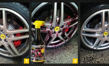 Rims as new with the Kenotek Wheel Cleaner Ultra